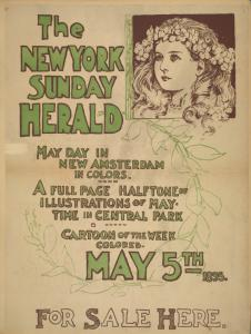 Posters from the New York Sunday Herald, 1895-1896