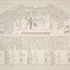 """Die Decke in dem auf der 4. Terrasse befindlichen Grabtempel der Königin, welche hier dargestellt ist in Adoration vor den verschiedenen Stunden des Tages und der Nacht. (Diese Tafeln bilden eine Ergänzung des Werkes: """"Flotte einer Aegyptischen Königin."""")"""