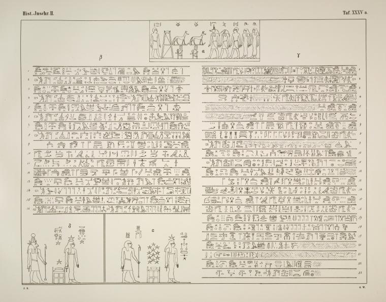 Historische inschriften altägyptischer denkmäler. 2. folge, nebst einigen geographischen und mythologischen inschriften, gesammelt und herausgegeben von J. Duemichen  1869