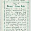 Gunner James Moir.