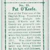 Pat O'Keefe.