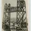 Giant draw-bridge at Rotterdam, Holland.