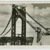 Hudson River Bridge at New York, under construction.