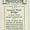 Hudson River Bridge at New York, under construction.