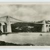 Menai Strait Suspension Bridge.