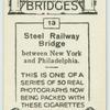 Steel railway bridge betwee New York and Philadelphia.