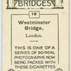 Westminster Bridge, London.