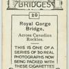 Royal Gorge Bridge across Canadian Rockies.