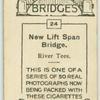 New lift span bridge, River Tees.