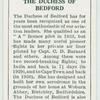 The Duchess of Bedford.