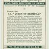"""S. S. """"Queen of Bermuda""""."""
