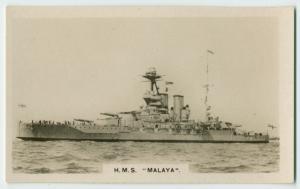"""H. M. S. """"Malaya""""."""
