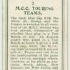 M.C.C. Touring Teams.