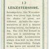 Leicestershire.