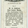 W. A. Oldfield, New South Wales.