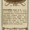 Wilkinson, Lieut. A.C., Army.
