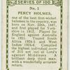 Percy Holmes, Yorkshire.