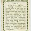 G.W. Stephens, Warwickshire.