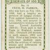 Cecil H. Parkin, Lancashire.