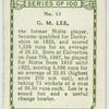 G. M. Lee, Derbyshire.