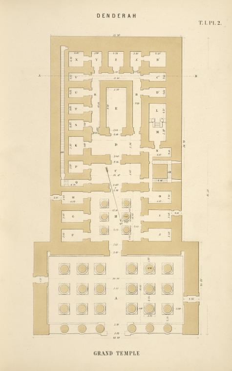 Denderah. Grand temple. [Plan.]