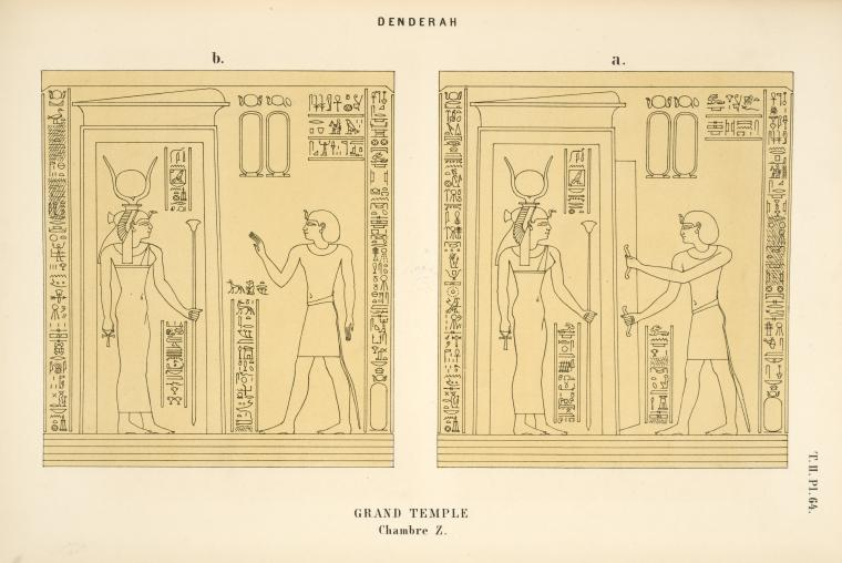 This is What Temple of Hathor Looked Like  in 1870