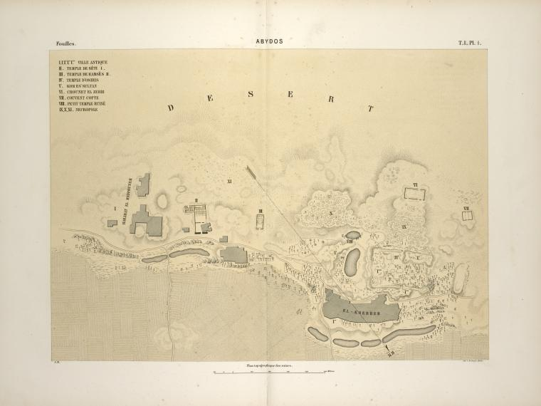 Abydos  Description des fouilles exécutées sur l'emplacement de cette ville  A. Mariette. 1869-1880