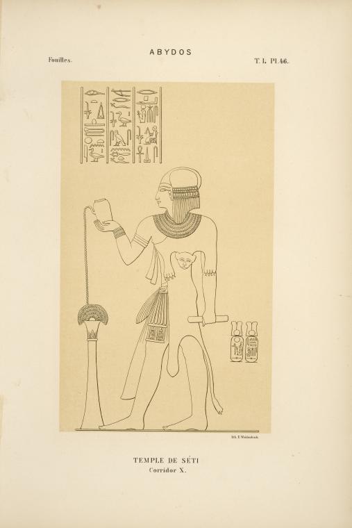 Abydos. Temple de Séti. Corridor X.