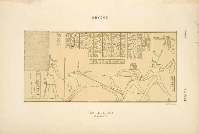 This is What Temple of Seti I Looked Like  in 1869
