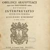 Ad Alexandrvm VII ... Obelisci aegyptiaci ... [Title page]