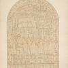 Stone tablet found in a tomb at Thebes. Discovered by the Earl of Belmore, 1818. Same size as the original.