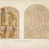 Stone tablets found in a tomb at Thebes. 1818. In the collection of the Earl of Belmore. Same size as the originals.