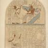 Stone tablet found in a tomb at Thebes. 1818. In the collection of the Earl of Belmore. Height of the original, 2 ft. 3 in., breadth 1 ft. 8 1/2 in.