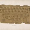Fragment of the papirus [i.e. papyrus] taken from a mummy at Thebes. 1818. In the collection of the Earl of Belmore.