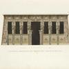 Elevazione geometrica del portico del tempio di Tentira.