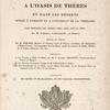 Voyage à l'oasis de Thèbes ... [Title page]