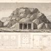 Vue, plan et coupes d'un temple égyptien, situé dans le désert, à treize lieues à l'orient d'Edfoû [Idfu].