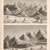 Vues d'une ville antique appellée Sekket [Sakiet, Sikeit], prises du sud et du nord.