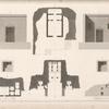 1-4. Plan et coupes du temple principal de Sekket [Sakiet, Sikeit]; 5-7. Plan et coupes de l'édifice du sud; 8. Plan d'une maison particulière à Sekket.