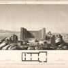 Plan et vue d'un temple Graeco-Roman, situé à Douch el Qala'h, à trois lieues au sud de Beyrys.