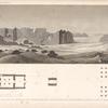 Plan et vue générale d'un temple égyptien, situé à Douch el Qala'h à trois lieues au sud de Beyrys.