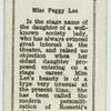Miss Peggy Lee.