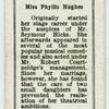 Miss Phyllis Hughes.