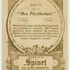 """""""Mrs. FitzHerbert""""."""