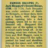 Jack Sheppard's second escape, 1724.