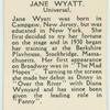 Jane Wyatt.