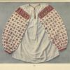 Woman's blouse, ornamented with small cotton crosses, Kobolya Polyana.