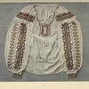 Old type of woman's blouse, ornamented with cotton crosses, Poroškovo.