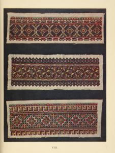 a-c) Shoulders of women's blouses embroidered with wool, Kobolya Polyana.