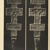 a-b) Wooden carved Hucul cross, showing both sides (Sokolivki). Collection of the Ethnographical Museum in Prague.